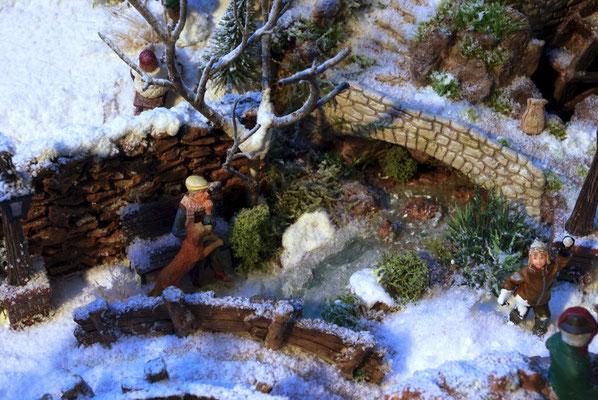 Village de Noël/Christmas Village 2014: Repos au bord de l'eau