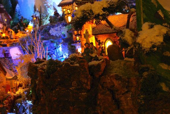 Village Noël/Christmas Village 2013, la nuit: C'est beau la mer la nuit sous les étoiles