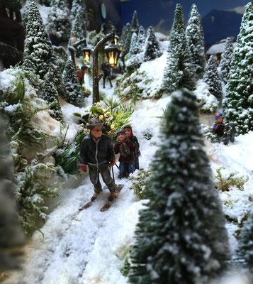 Village de Noël/Christmas Village 2014: Petite glisse en famille...