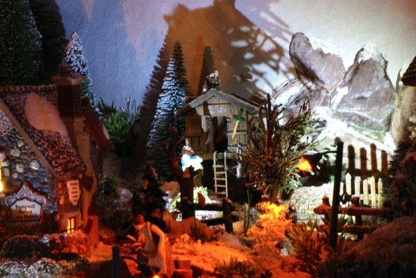 Village Noël/Christmas Village 2013, la nuit: Cabane d'enfants