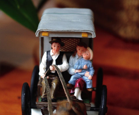 Horsecarriage with family - 600658 - vue 4