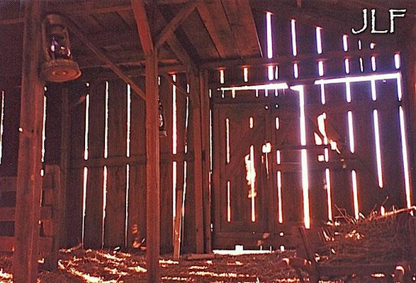 L'interieur de la grange
