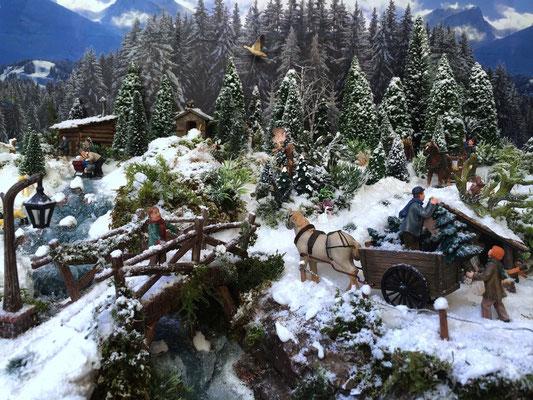 Village Noël /Christmas Village 2014, les hauteurs: Un spectateur attentif