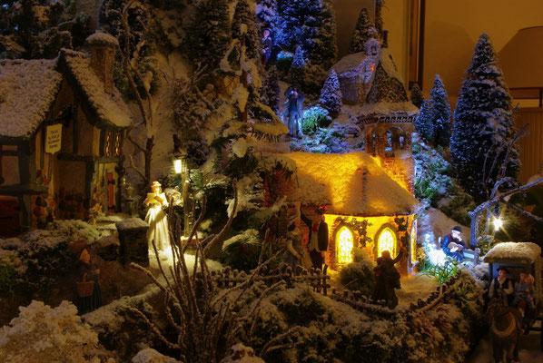 Village de Noël/Christmas Village 2014 de nuit: Quartier de l'église