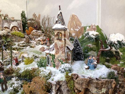 Village Noël/Christmas Village 2013 : Une église haut-perché