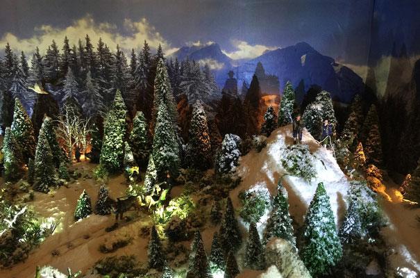Village de Noël/Christmas Village 2014 de nuit: Escalade nocturne