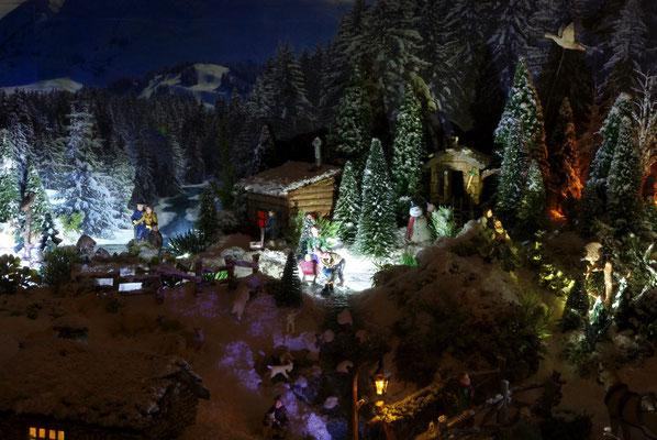 Village de Noël/Christmas Village 2014 de nuit: Jeux de glisse
