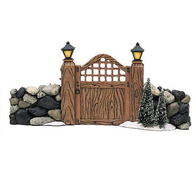 Fieldstone entry gate - #56-52718 - Vue 1