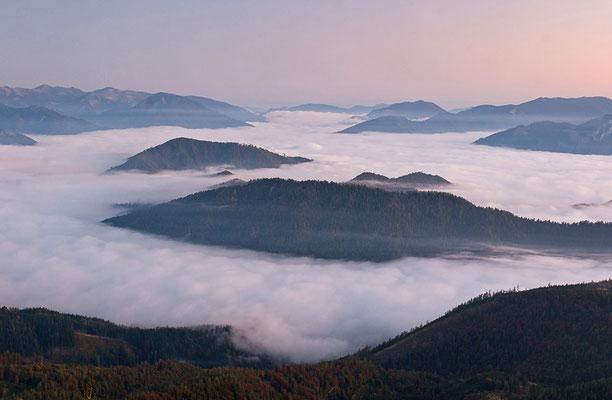 Nebel über dem Ennstal