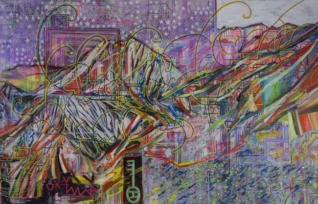 urworte, 210x135cm, oil+acryl on canvas, banck 2015 #