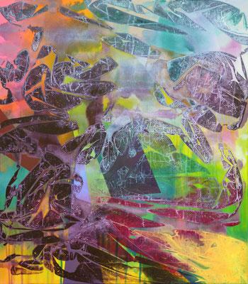 Tür im Nichts, 70x80cm, acryl on canvas, banck 2020