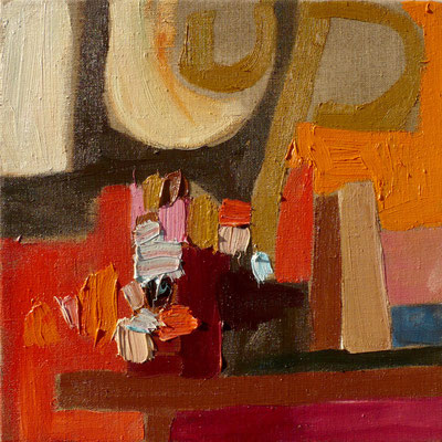 come inside 2, 40x40cm, oil on canvas, banck 2007 #