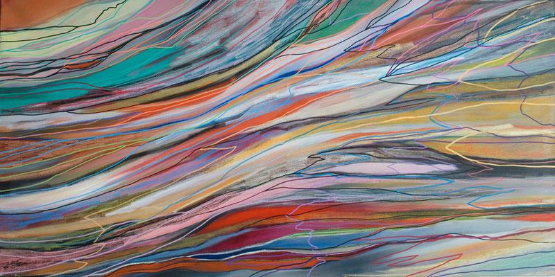 Martha, 145x70cm, oil+acryl on canvas, banck 2011 #