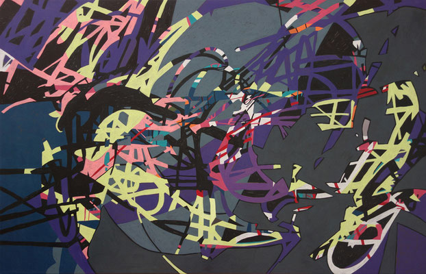 2505, 140x90cm, acryl on canvas, banck 2014