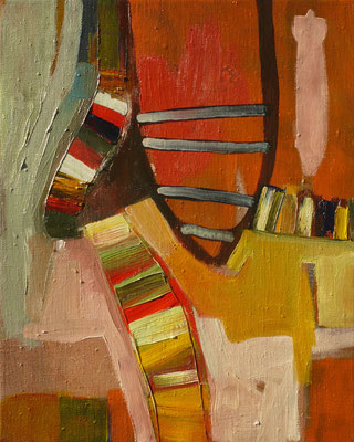 come inside 5, 30x40cm, oil on canvas, banck 2007
