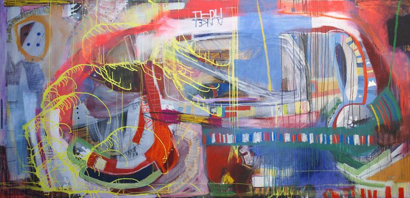 Fiedler, 280x135cm, oil+acryl on canvas, banck 2008 #