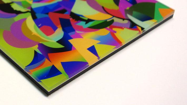 20cm x 10cm - Hochwertiger Fotoabzug unter Acrylglas + 3 mm Alu-Dibond-Rückwand + umlaufende Aluminiumschiene für eine unkomplizierte und sichere Aufhängung.