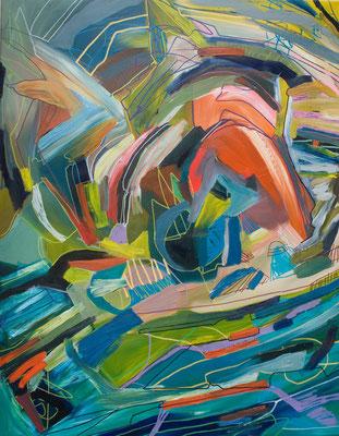 new born, 70x90cm, oil+acryl on canvas, banck 2011 #