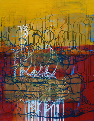 Isaak 16, 70x90cm, acryl on canvas, banck 2009 #