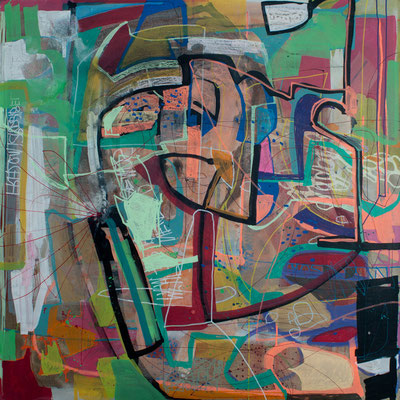 freedom is possble, 70x70cm, acryl on canvas, banck 2012 #