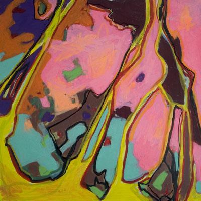 konvergenz_sat20_10, 20x20cm, Acryl auf Papier, 2010