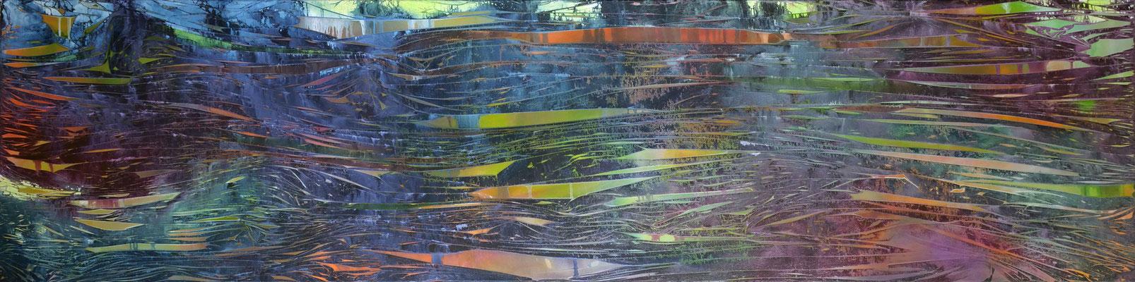 Panorama, 240x60cm, acryl on cavas, Banck 2020
