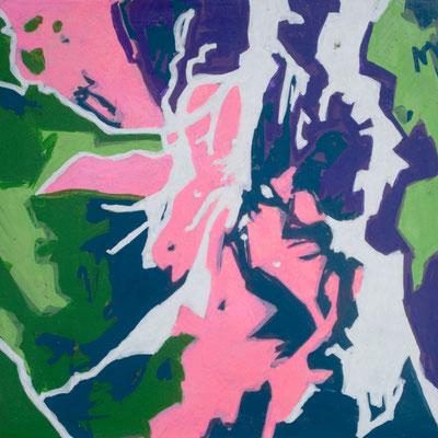 konvergenz_sat20_12, 20x20cm, Acryl auf Papier, 2010