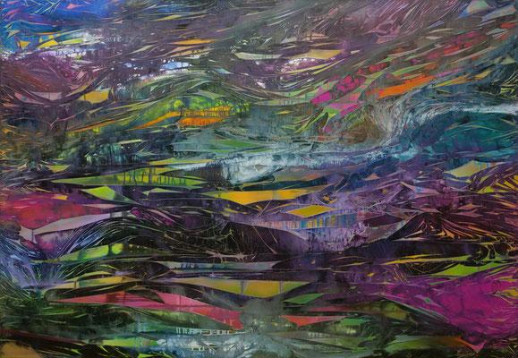 Wanderung, 200x140cm, acryl on cavas, Banck 2020