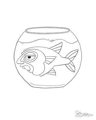Menschfisch-Glas 3