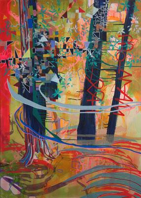 good days, 100x140cm, acryl on canvas, banck 2014