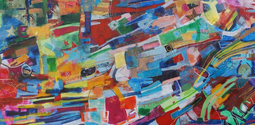 Universum, 550x270cm, oil+acryl on canvas, banck 2009 #