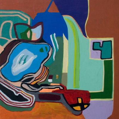konvergenz_sat20_01, 20x20cm, Acryl auf Papier, 2010