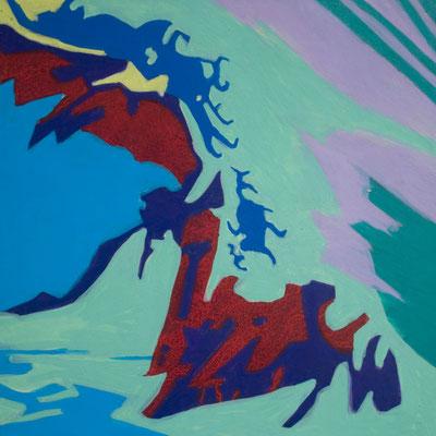 konvergenz_sat20_13, 20x20cm, Acryl auf Papier, 2010