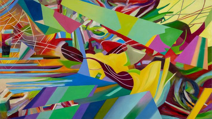 Explosion der Farben 1, 160cmx90cm, oil on canvas, banck 2018