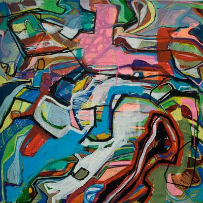 run away, 70x70cm, acryl on canvas, banck 2011