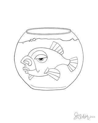 Menschfisch-Glas 2