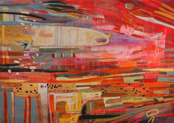 uv-b, 240x170cm, oil+acryl on canvas, banck 2008 #