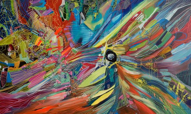 Kernenergie, 200x120cm, oil+acryl on canvas, banck 2011 #