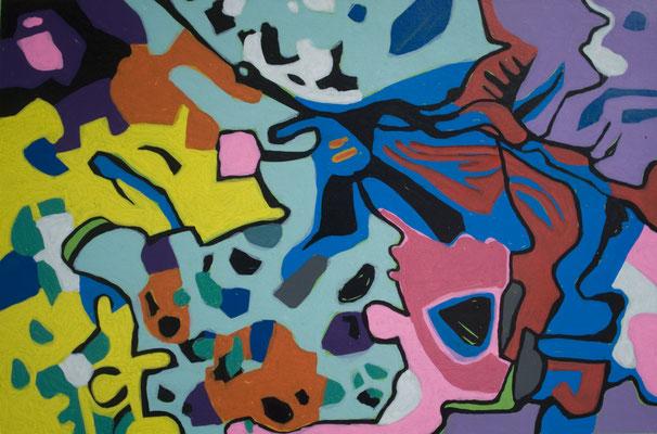 konvergenz_sat30_19, 30x20cm, Acryl auf Papier, 2010