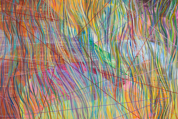 directions, 210x140cm, mixed media on canvas, Banck 2016