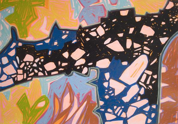 konvergenz_sat30_01, 30x20cm, Acryl auf Papier, 2010