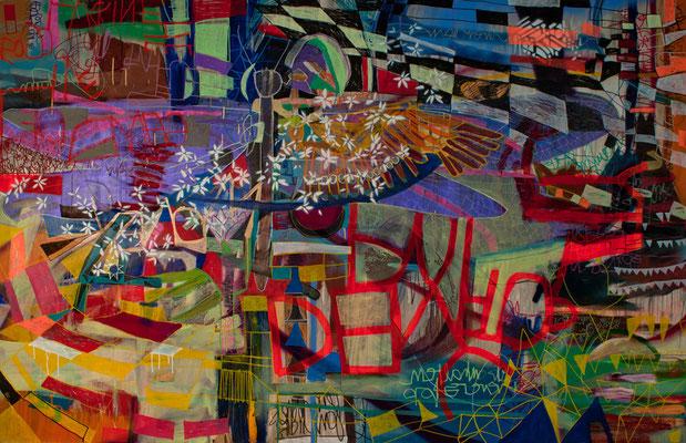 squirrel, 240x155cm, oil+acryl on canvas, banck 2011 #
