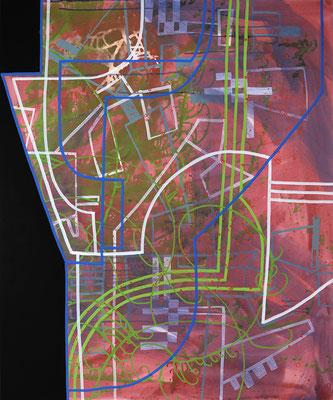 borders, 100x120cm, acryl on canvas, Banck 2016