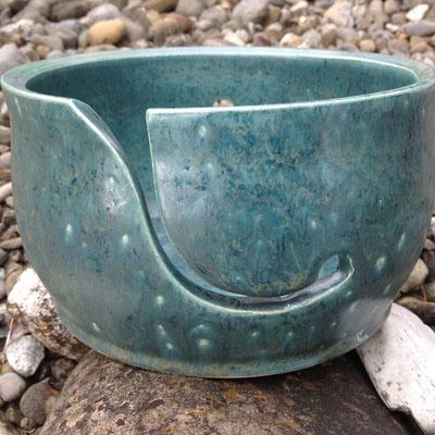Yarnbowl / Wulleschüssel grün matt - verkauft