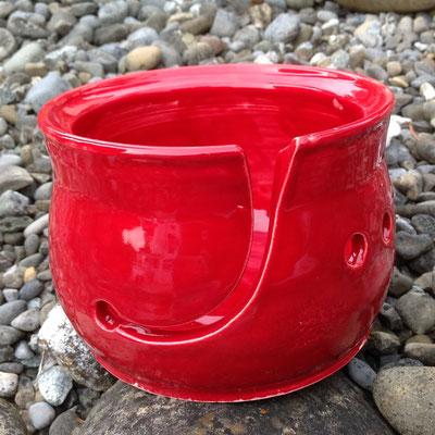 Yarnbowl / Wulleschüssel lackrot - verkauft