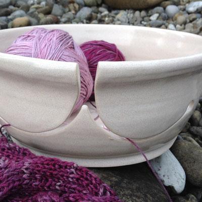 Yarnbowl / Wulleschüssel doppelt weiss - verkauft