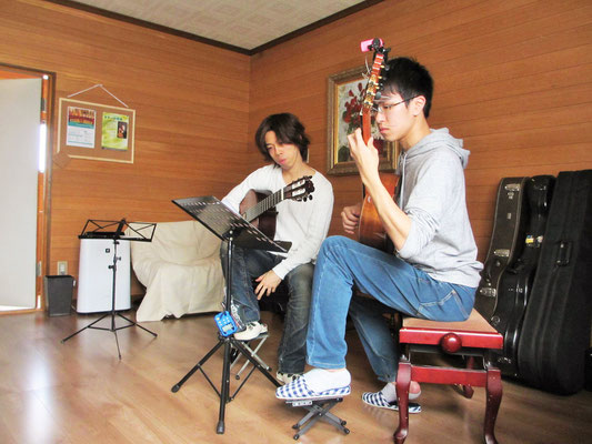 ギタースクール レッスン風景