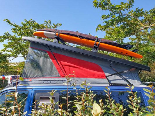 C-Profilschienen zur Aufnahme von Dachgepäckträgern (Surfboards, Dachboxen, etc.)