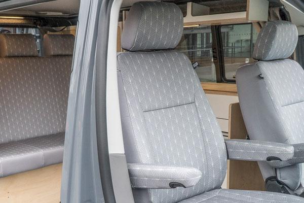Sitzbezug Art Deco Grey