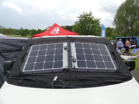 Solara Solarpanel für VW T5, T6 Frontscheibe